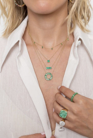 Solitaire Emerald Necklace