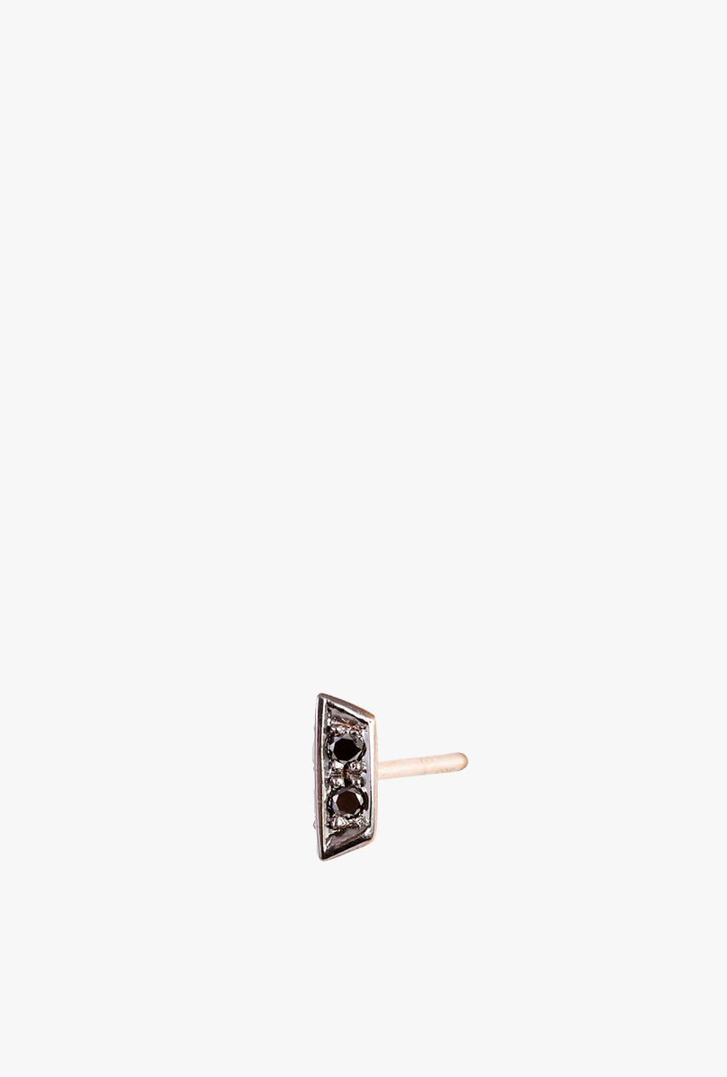 Sophia Stud Earring in Rose Gold with Black Diamonds
