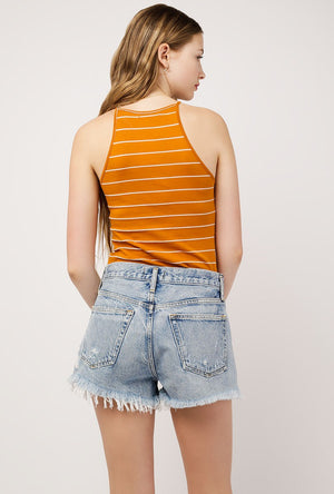 Stripe Knit Halter Top