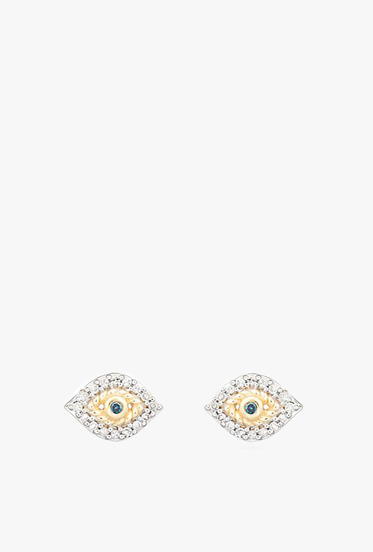 Super Tiny Pave Evil Eye Earrings