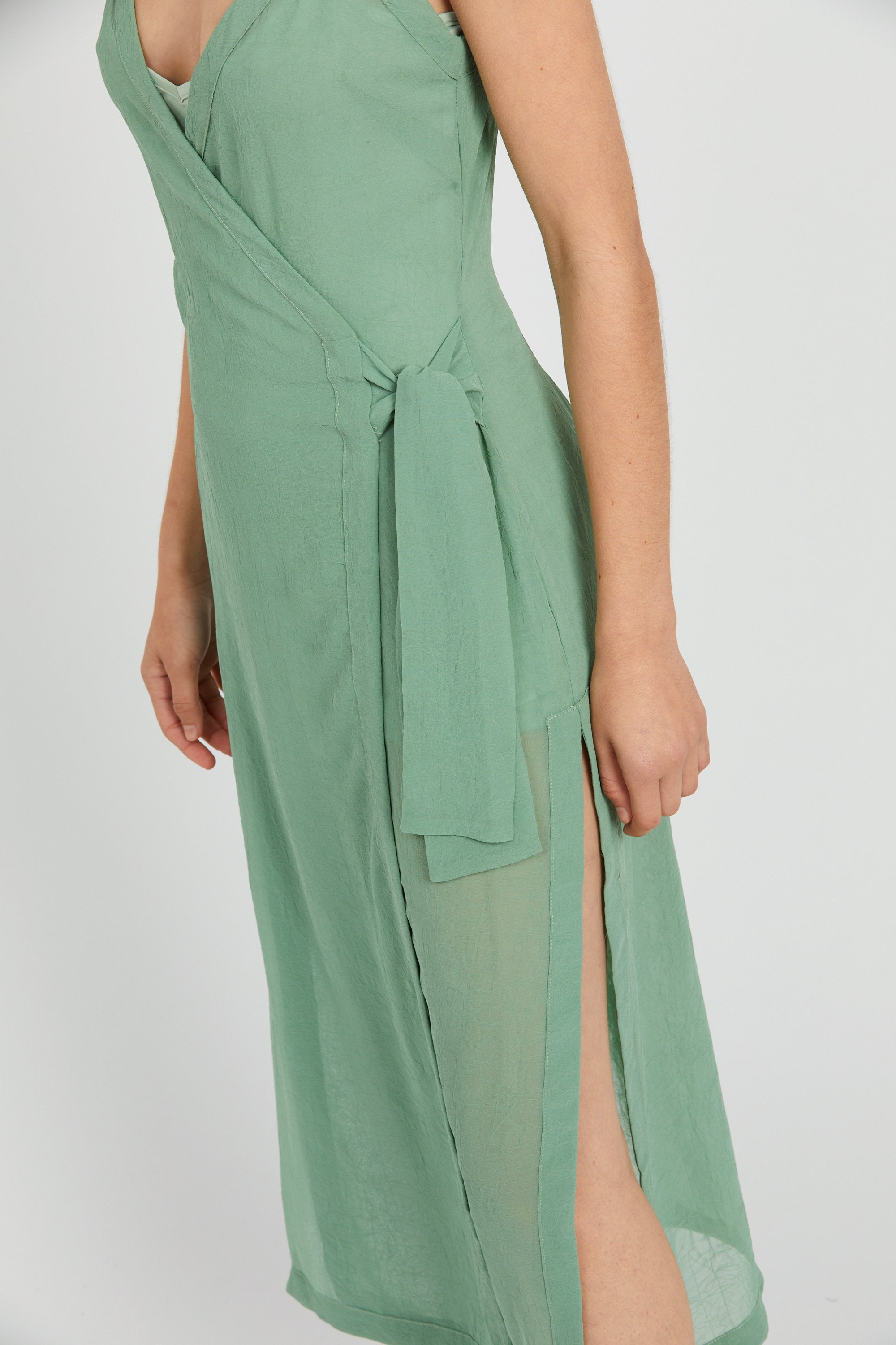 Crush Wrap Maxi Dress