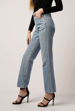 Classic Fit Jean in Marble Blue
