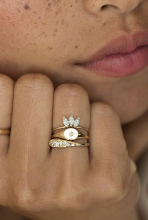 Baby Signet D Ring