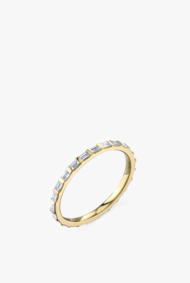 Baguette Axis Ring