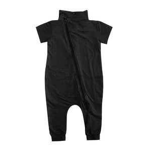 Black Denim Maverick Romper