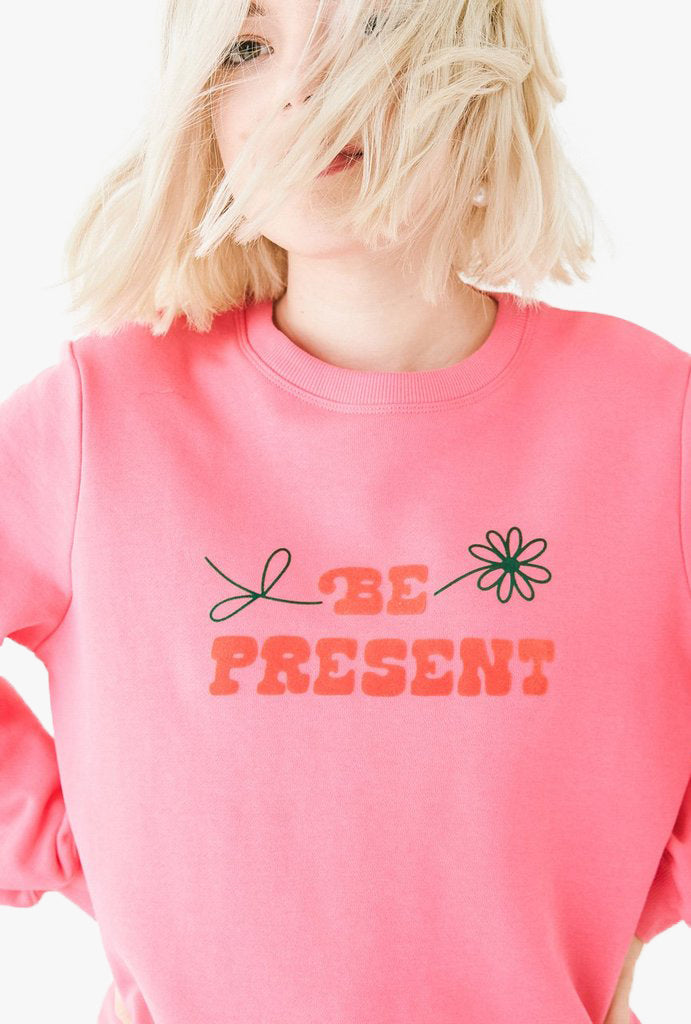 Be Present Balloon Sleeve Sweatshirt