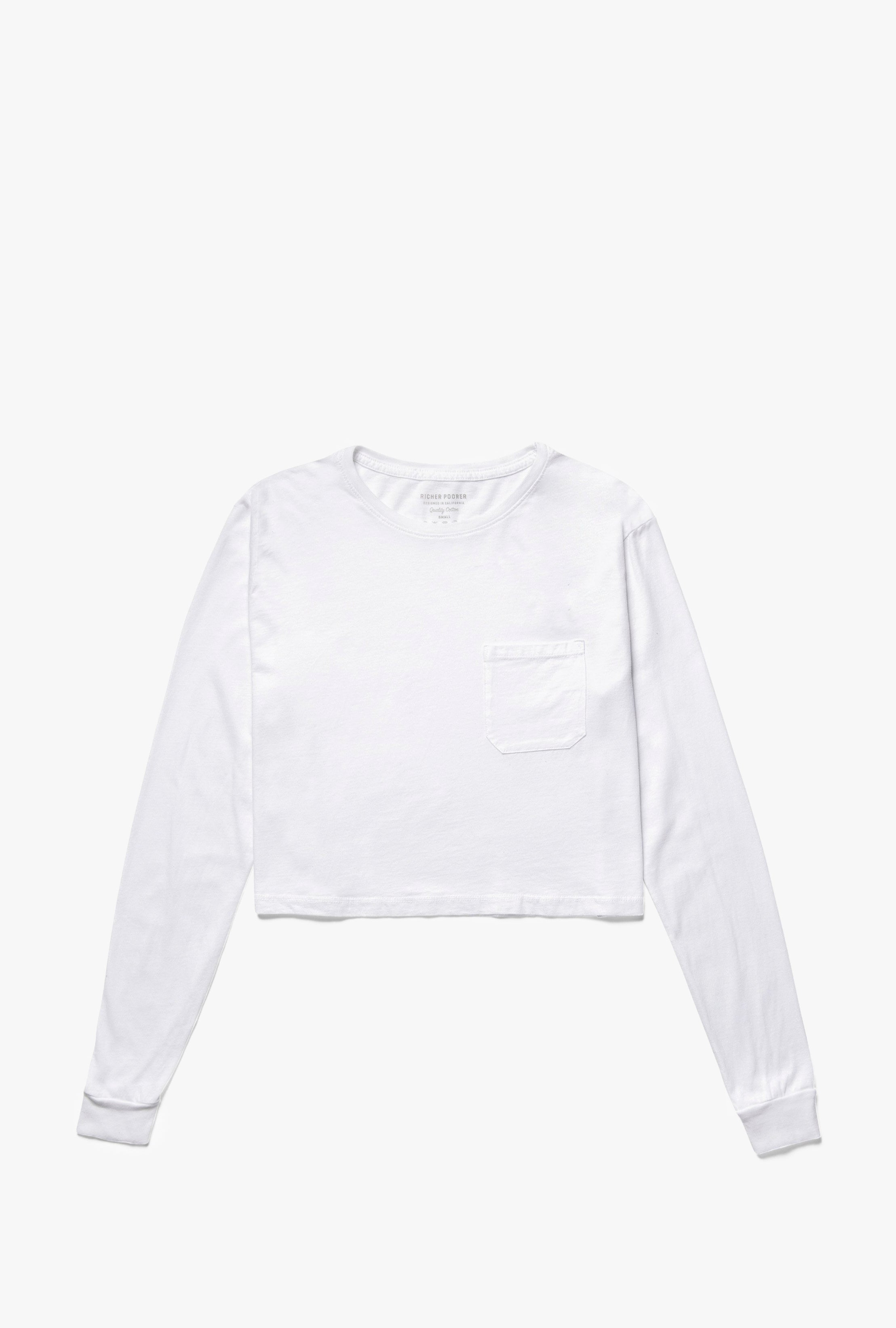 Boxy Crop Long Sleeve Top