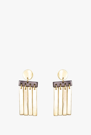 Cala Horn Fringe Earrings P