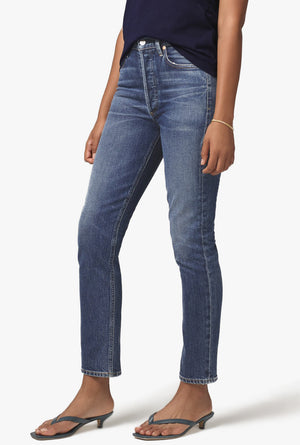 Charlotte High Rise Straight Jean in Prelude