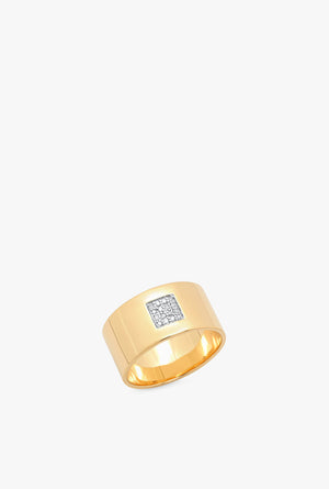 Cigar Band w Pave Dia Square