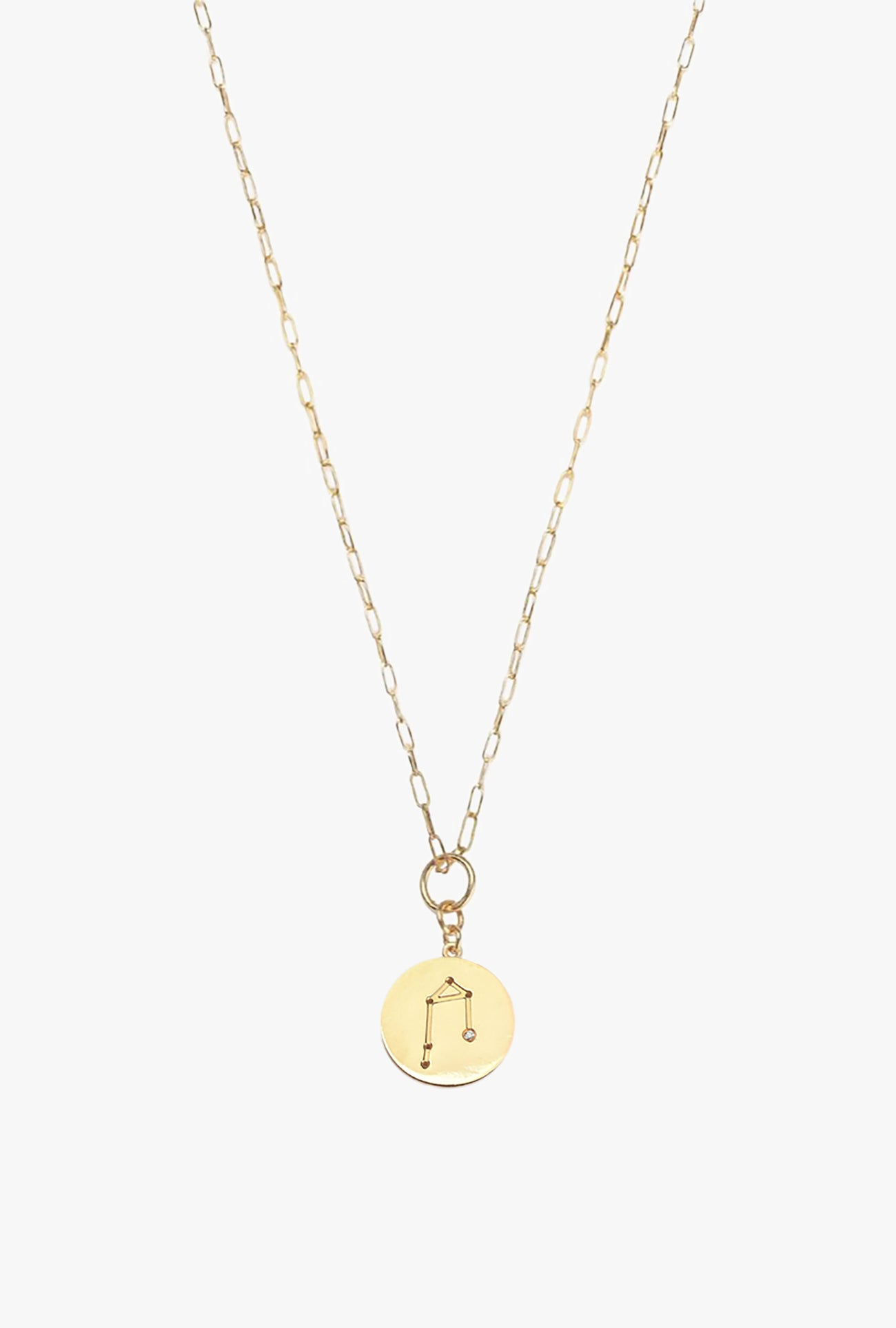 Constellation Libra Charm Necklace