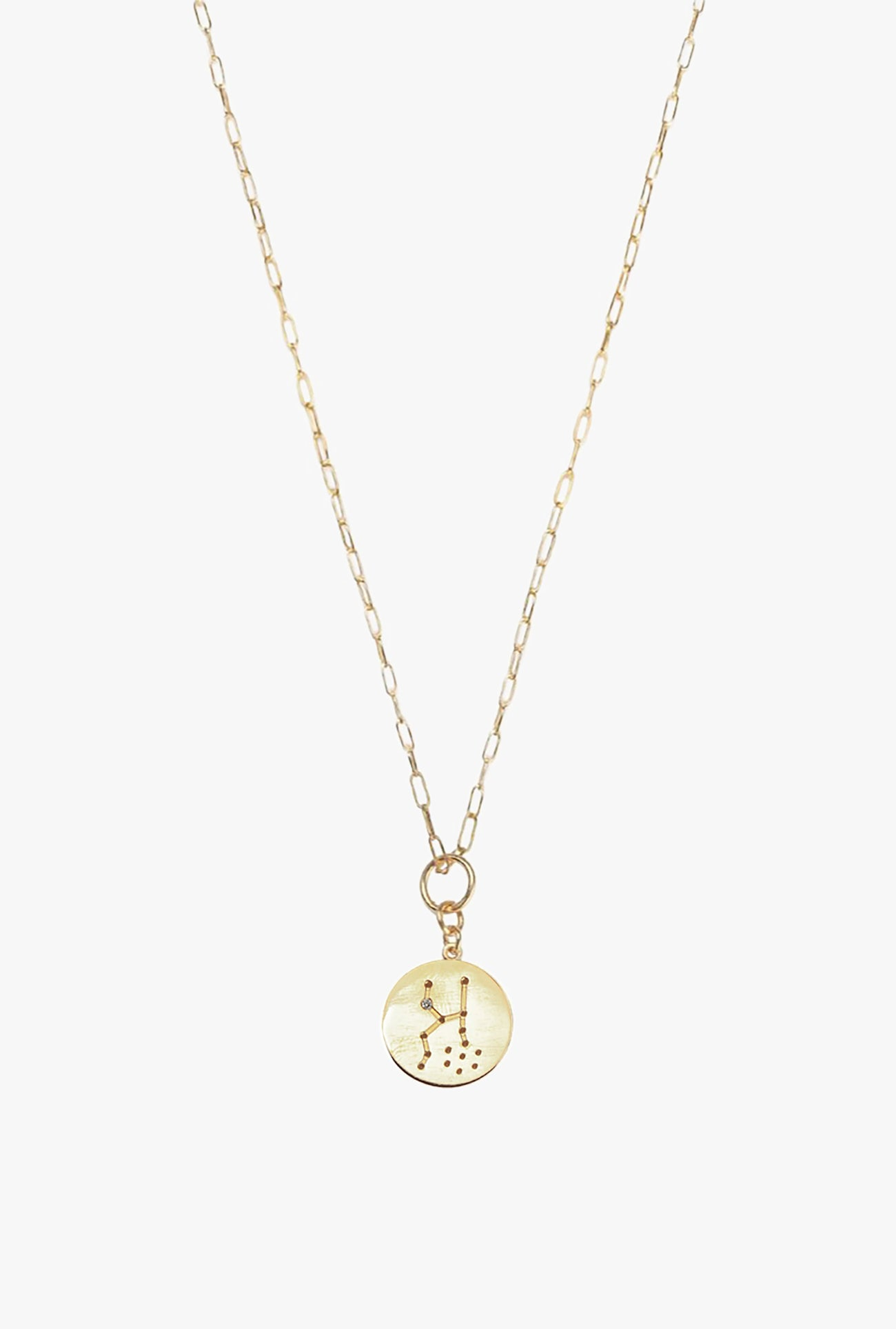 Constellation Taurus Charm Necklace