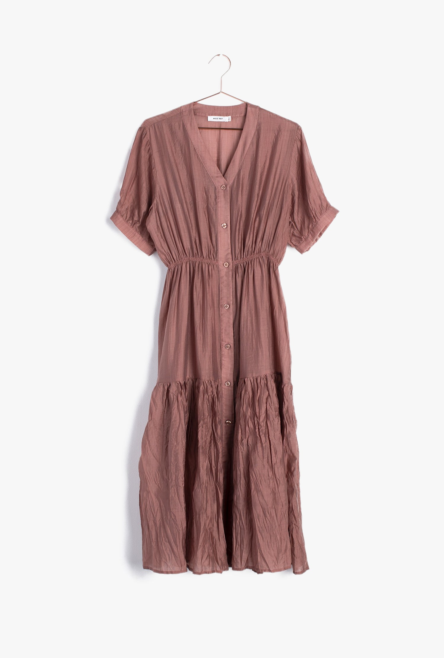 Dawn Button Down Midi Dress
