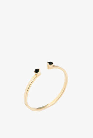 Double Black Diamond Ring