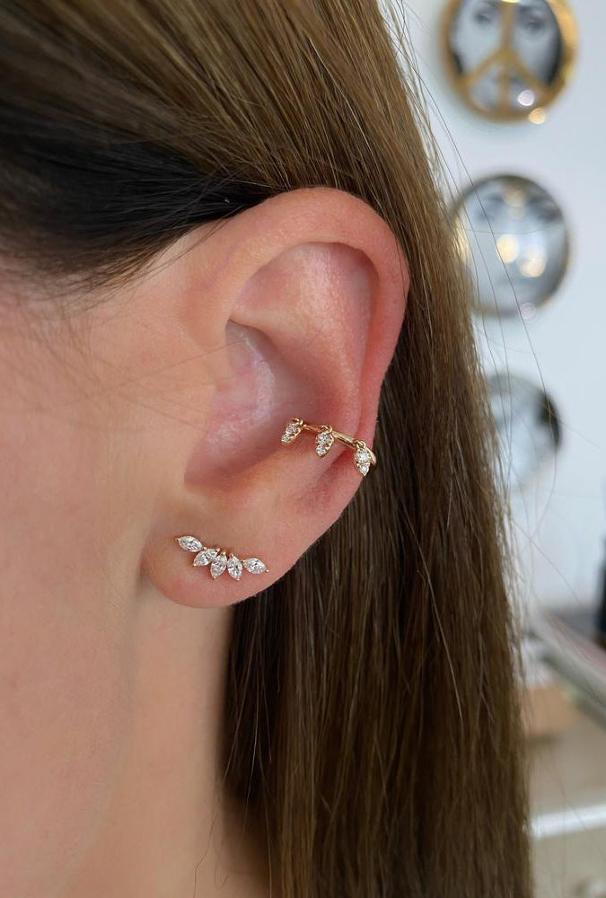 Diamond Marquise Fan Earrings