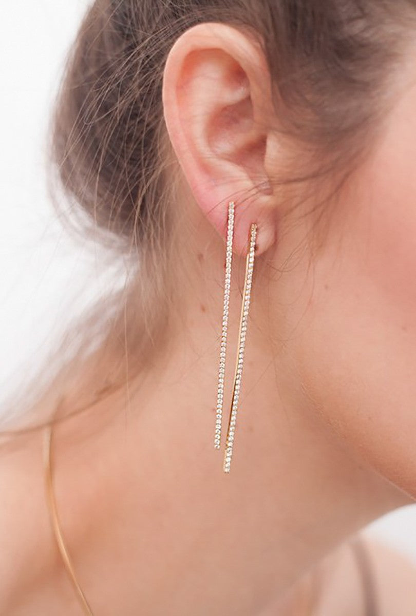 Diamond Bar Earring P