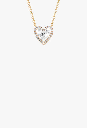 Diamond White Topaz Heart Necklace