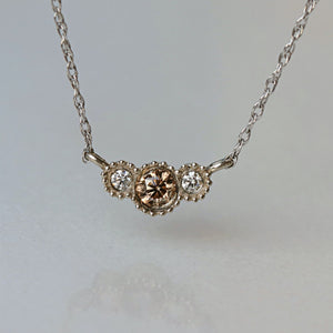 TUCKED IN DIAMONDS NECKLACE, CHAMPAGNE DIAMOND