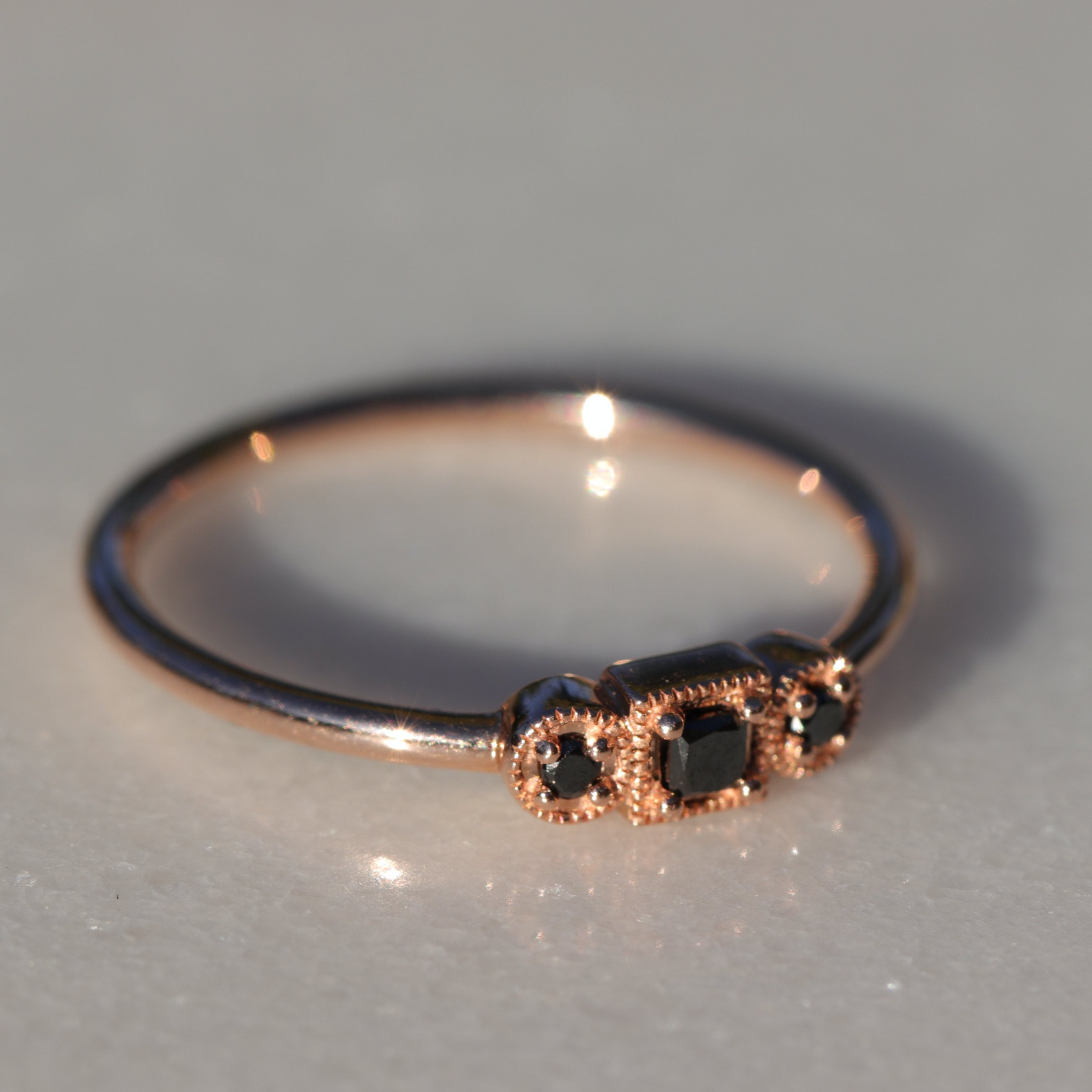 MAATHAI RING, BLACK DIAMONDS
