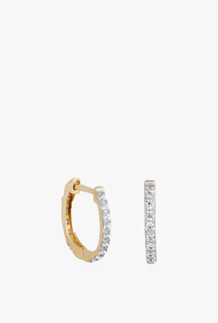Fine Glam CZ Mini Hoops