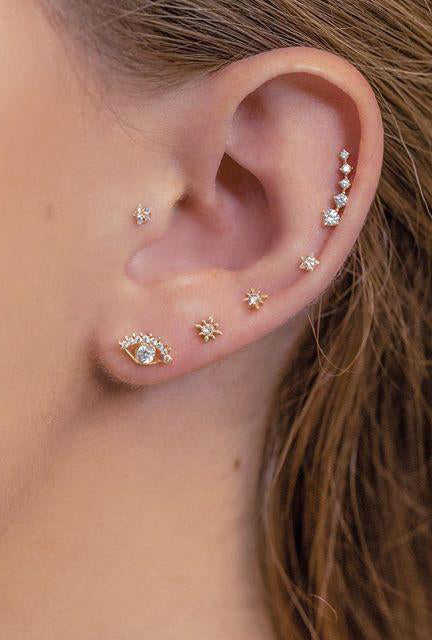 Fine Kite Single Stud Earring
