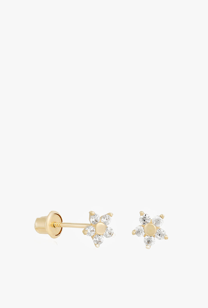 Fine Teeny Flower Earrings