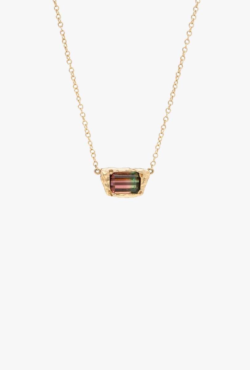 Freja Necklace with Watermelon Tourmaline
