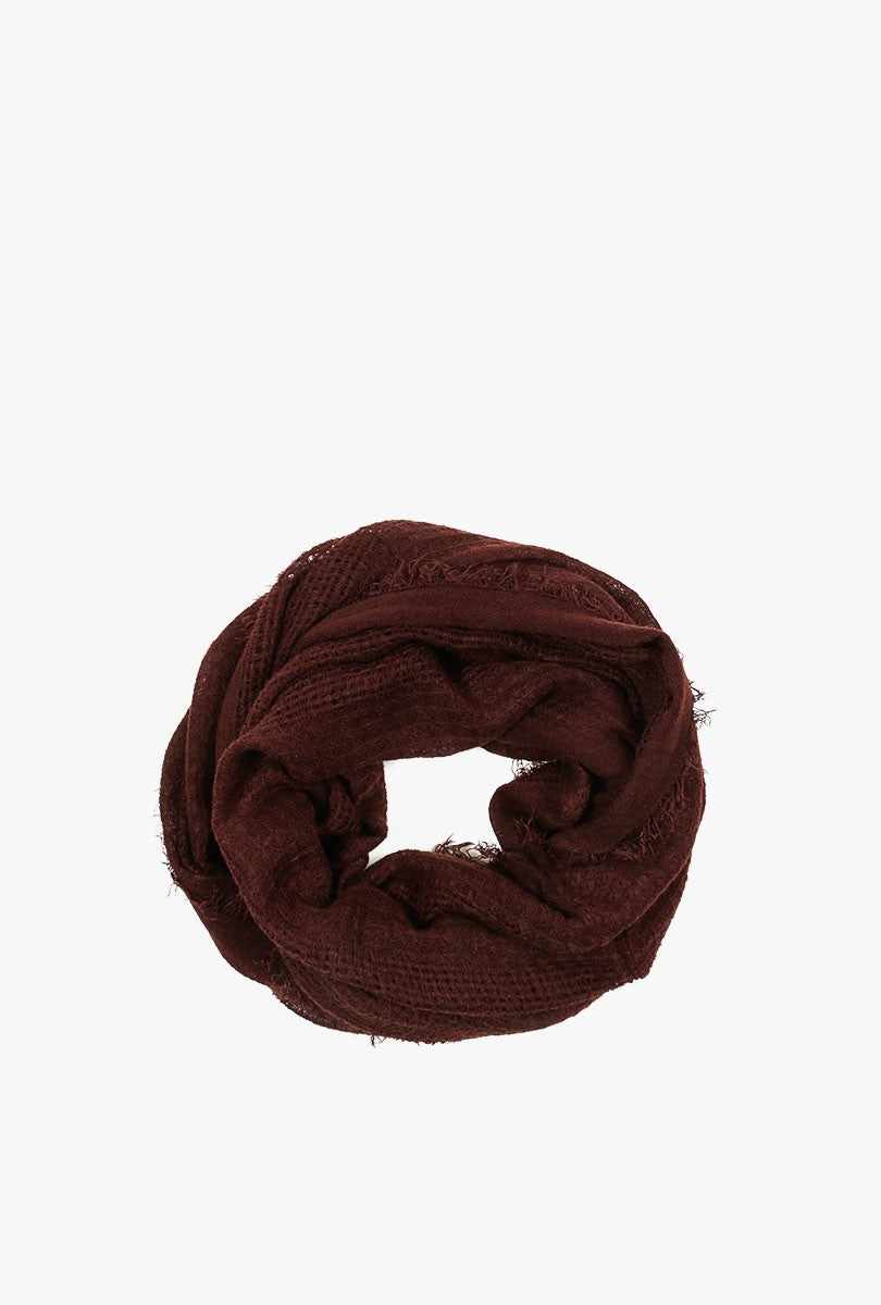 Frilled Cozy Infinity Scarf