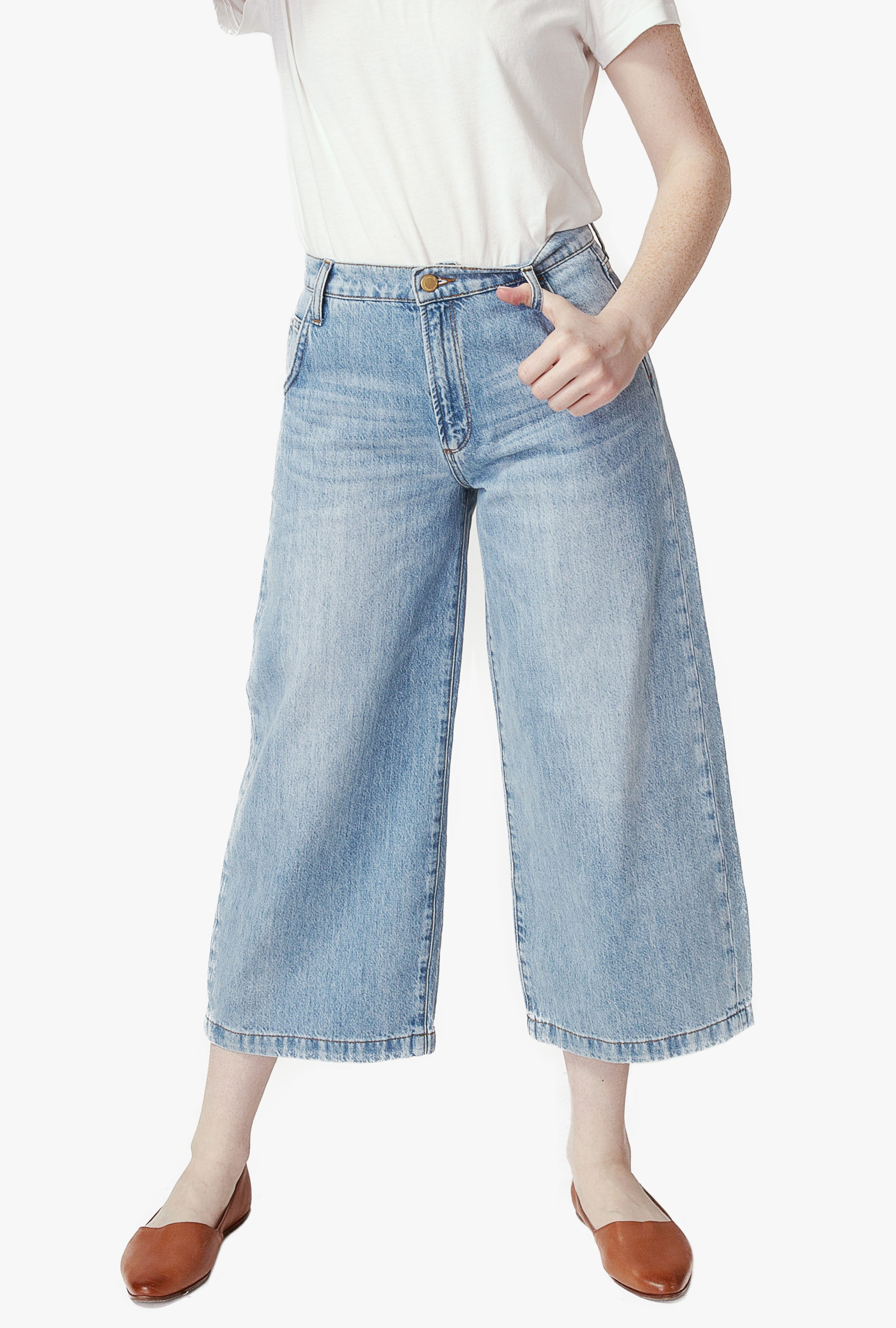 Gaucho Jean in Light Indigo