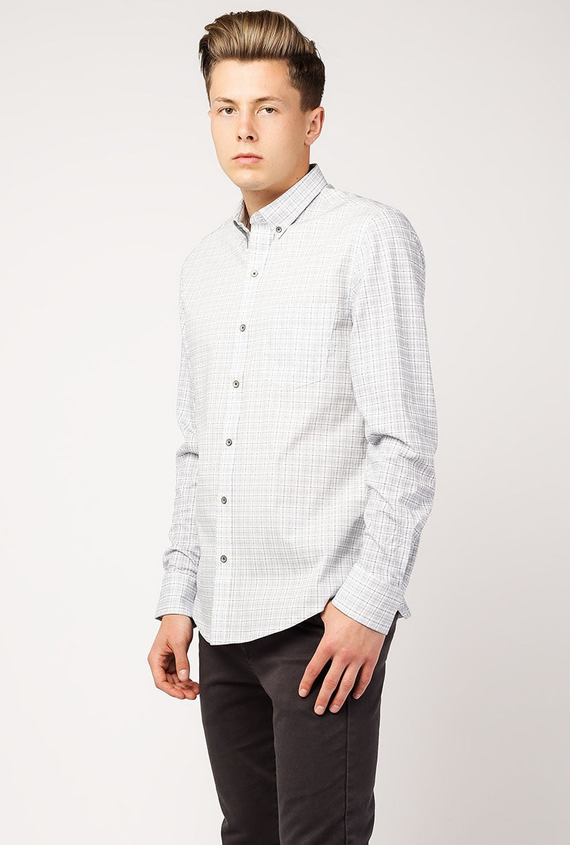 Heather Check Reworked Shirt