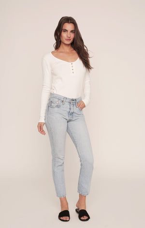 Henley Shirt | White Rib
