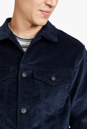 Indigo Corduroy Denim Jacket