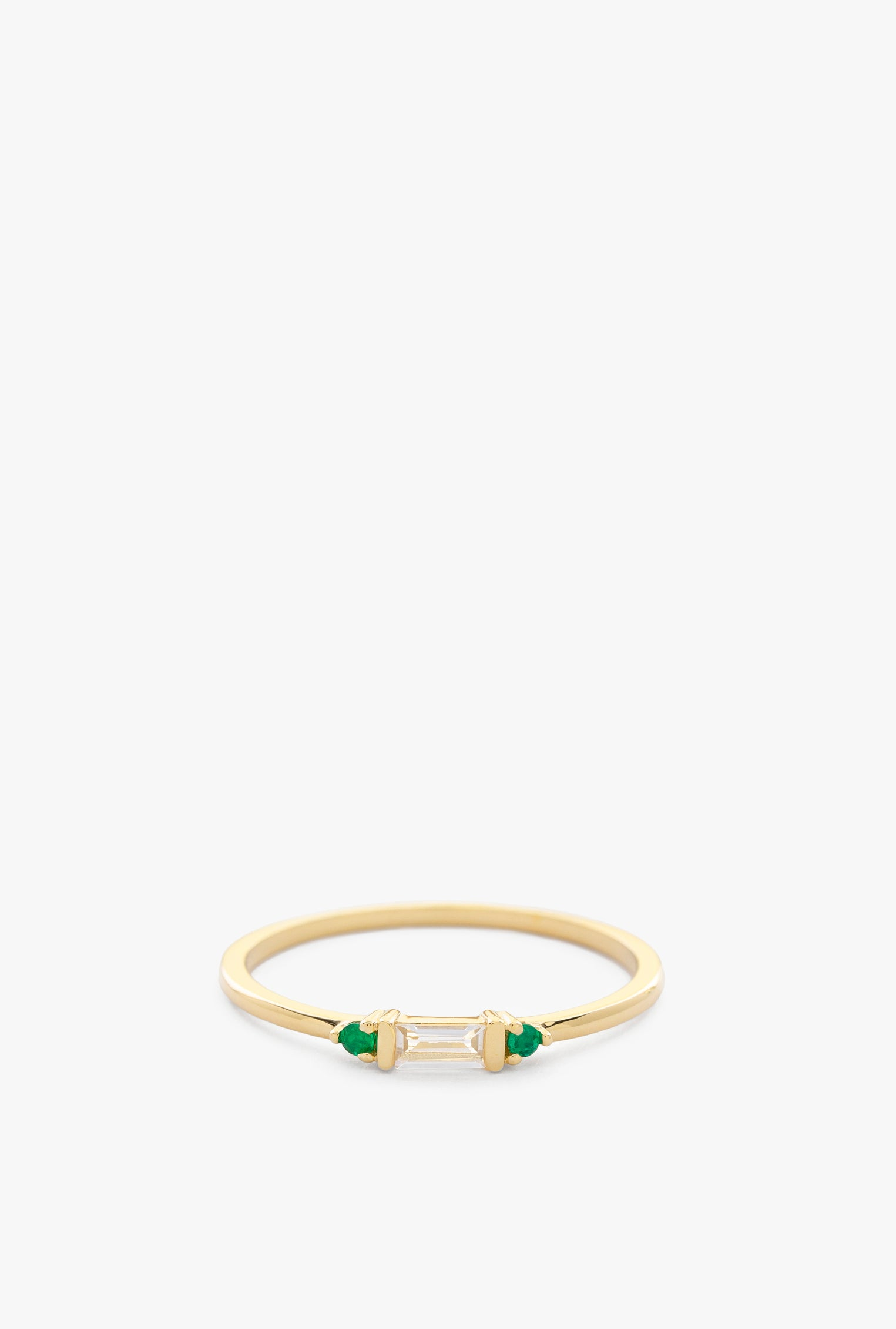 Jenna Emerald Baguette Ring
