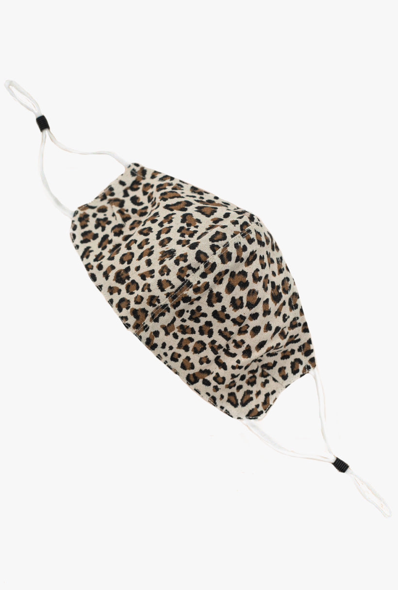Leopard Cotton Face Mask