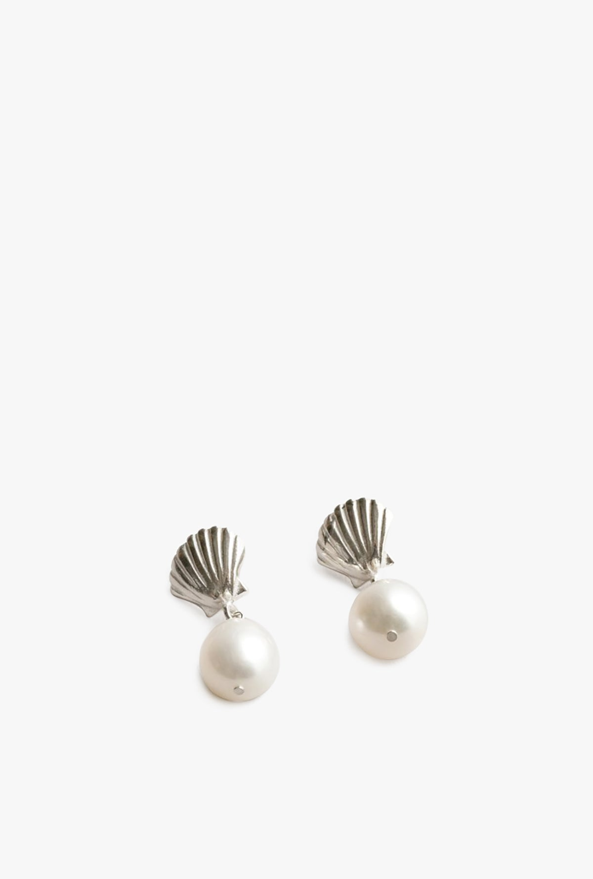 Marcel Pearl Stud Earrings - STERLING SILVER