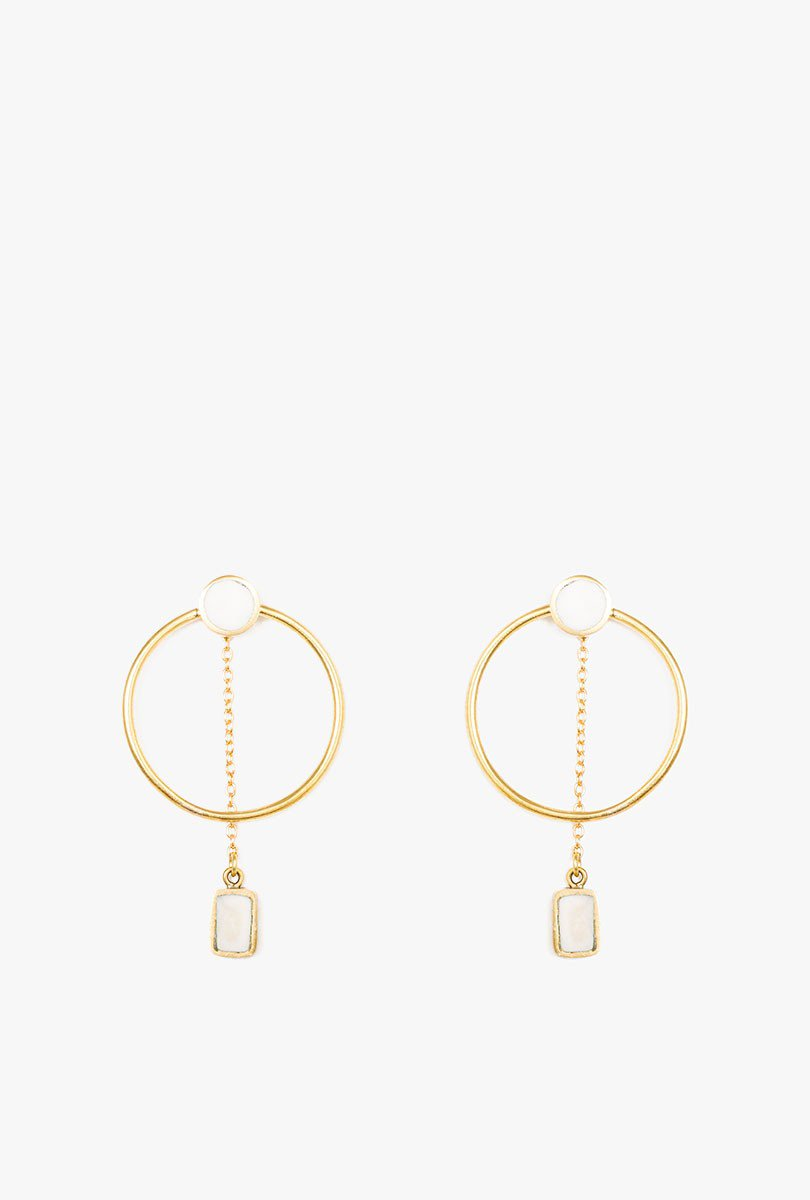 Mari Chain Hoop Earrings P