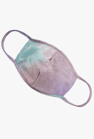 Purple Tie Dye Cloth Face Mask
