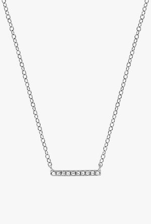Diamond Mini Bar Necklace