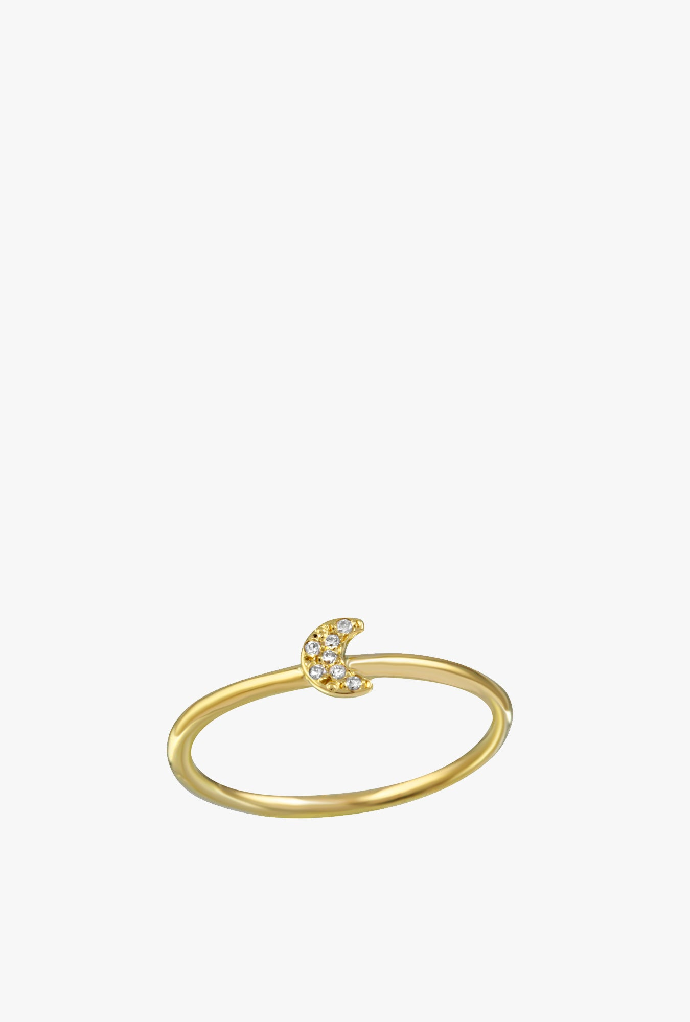 Pave Moon Ring