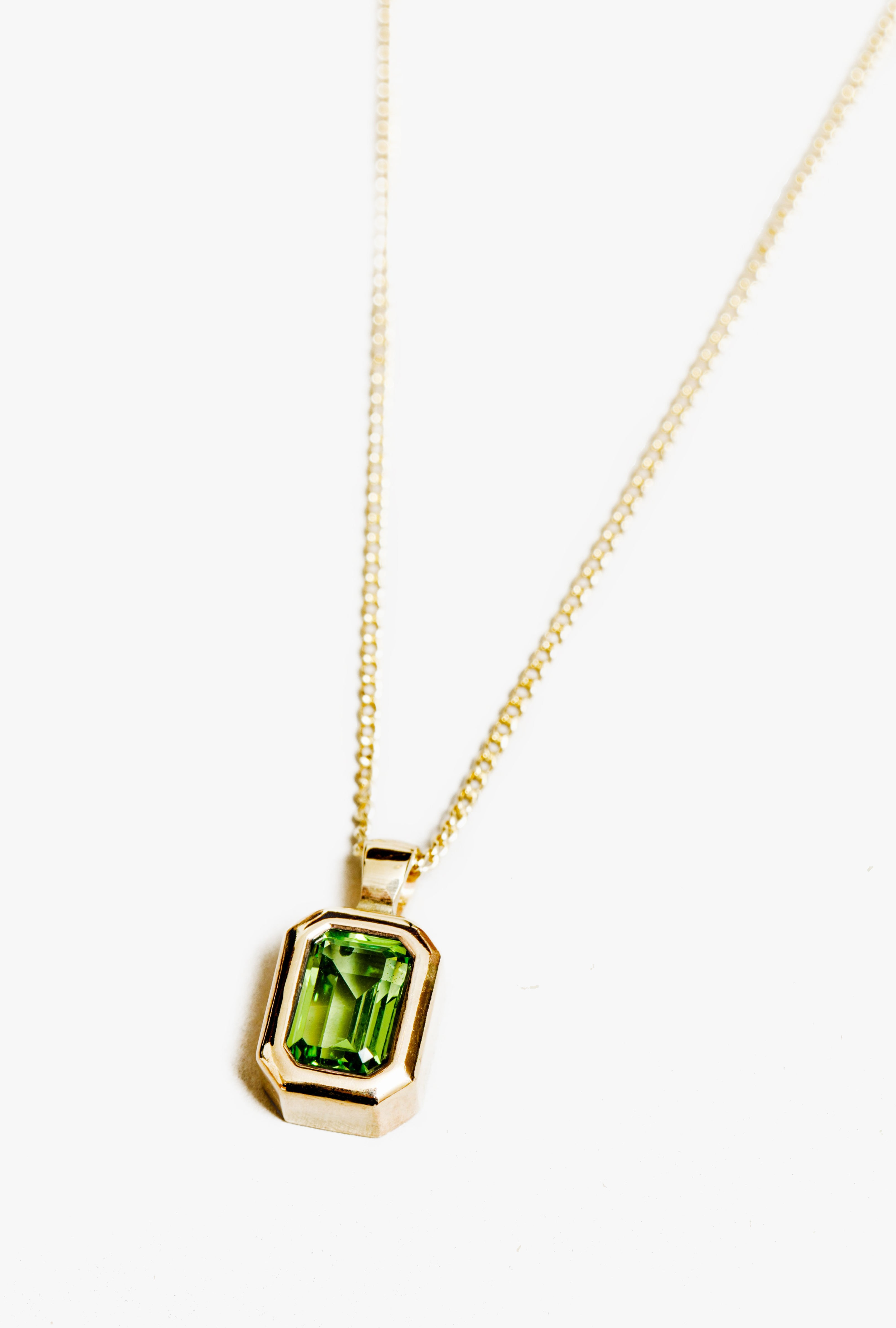 Penelope Necklace in Peridot