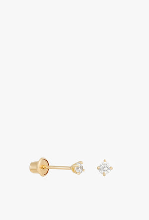 Fine Perfect Teeny Stud Earrings