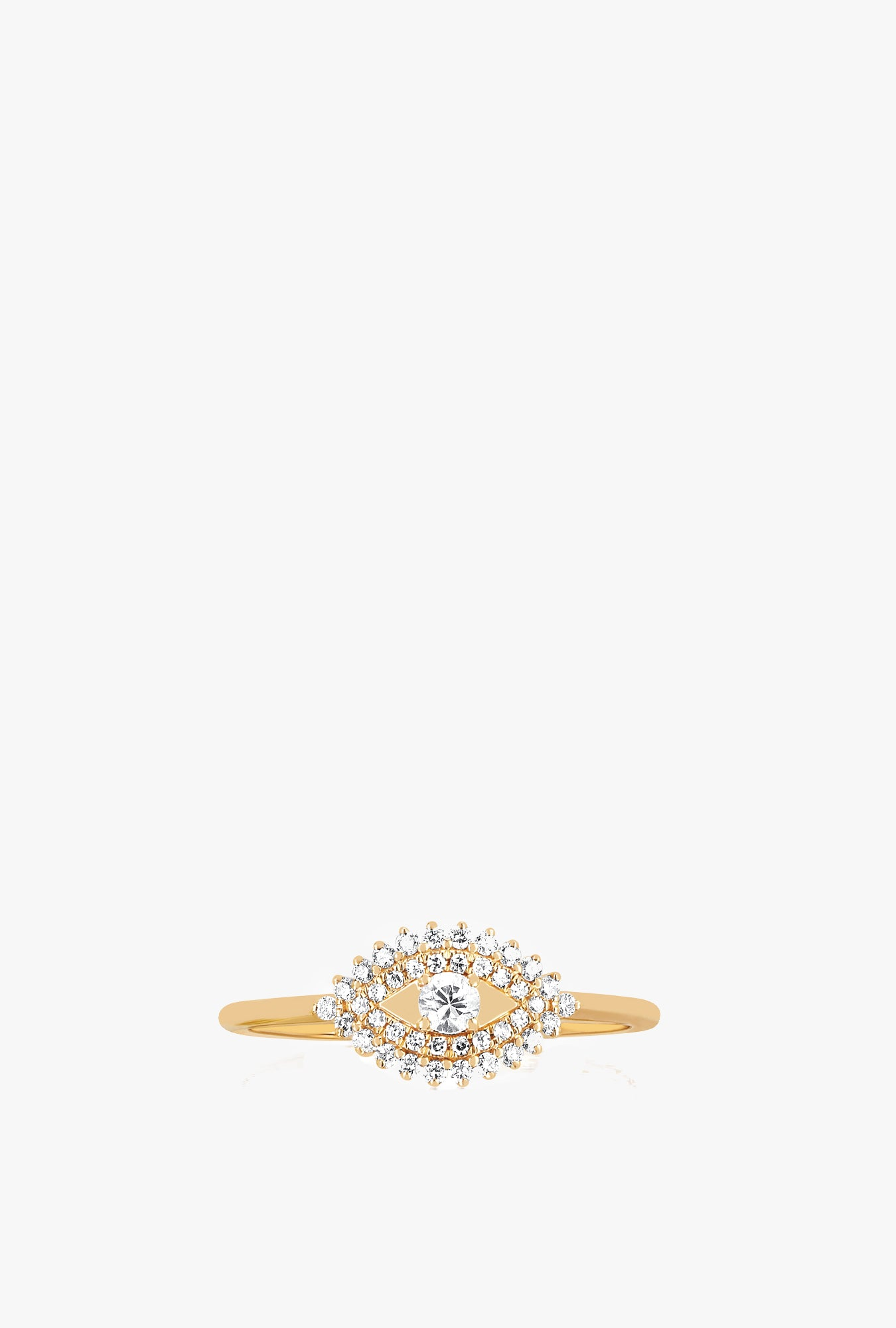 Prong Set Diamond Evil Eye Ring