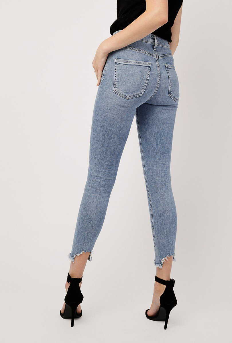 Rocket Crop High Rise Jean