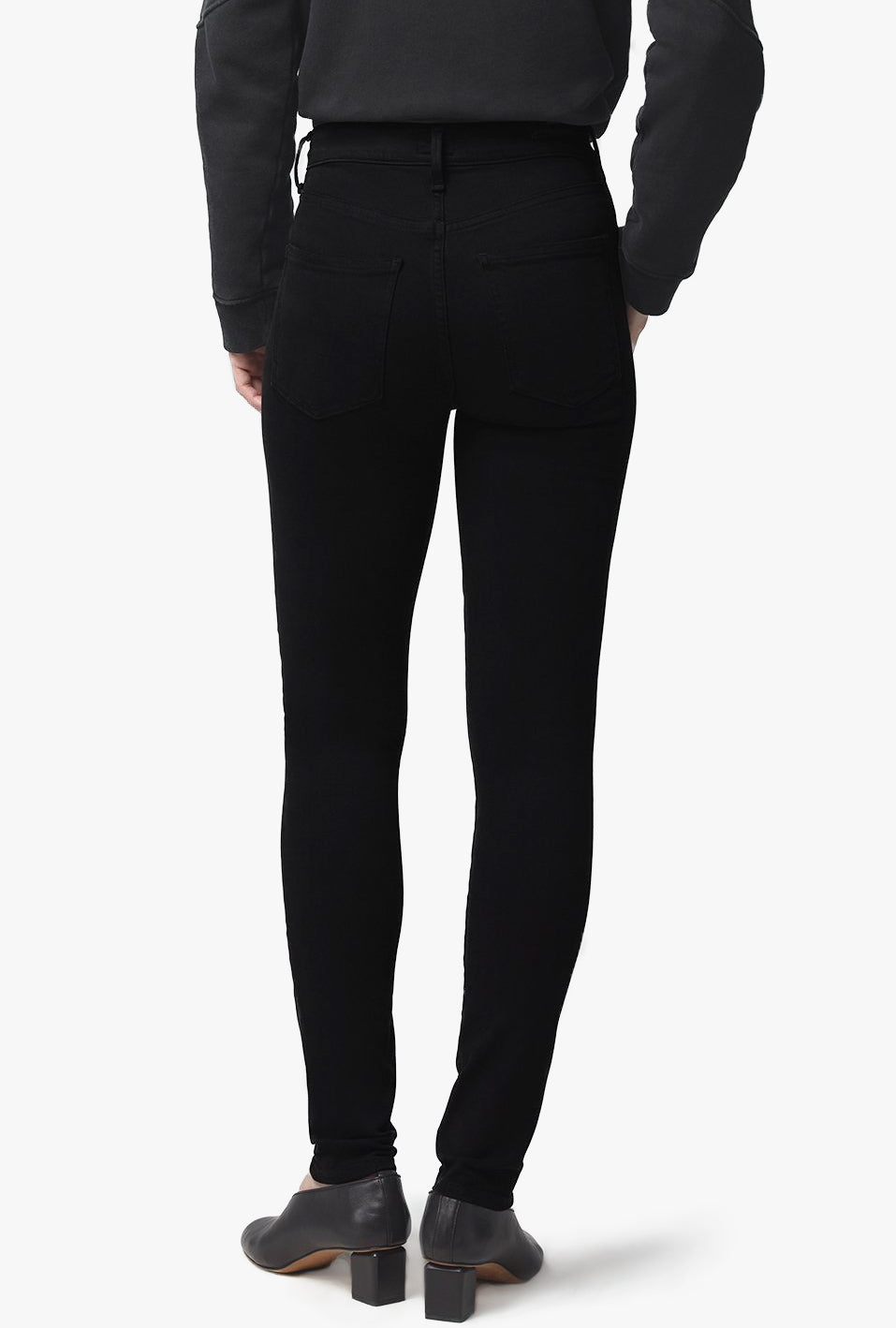Rocket Mid Rise Skinny Jean in Plush Black