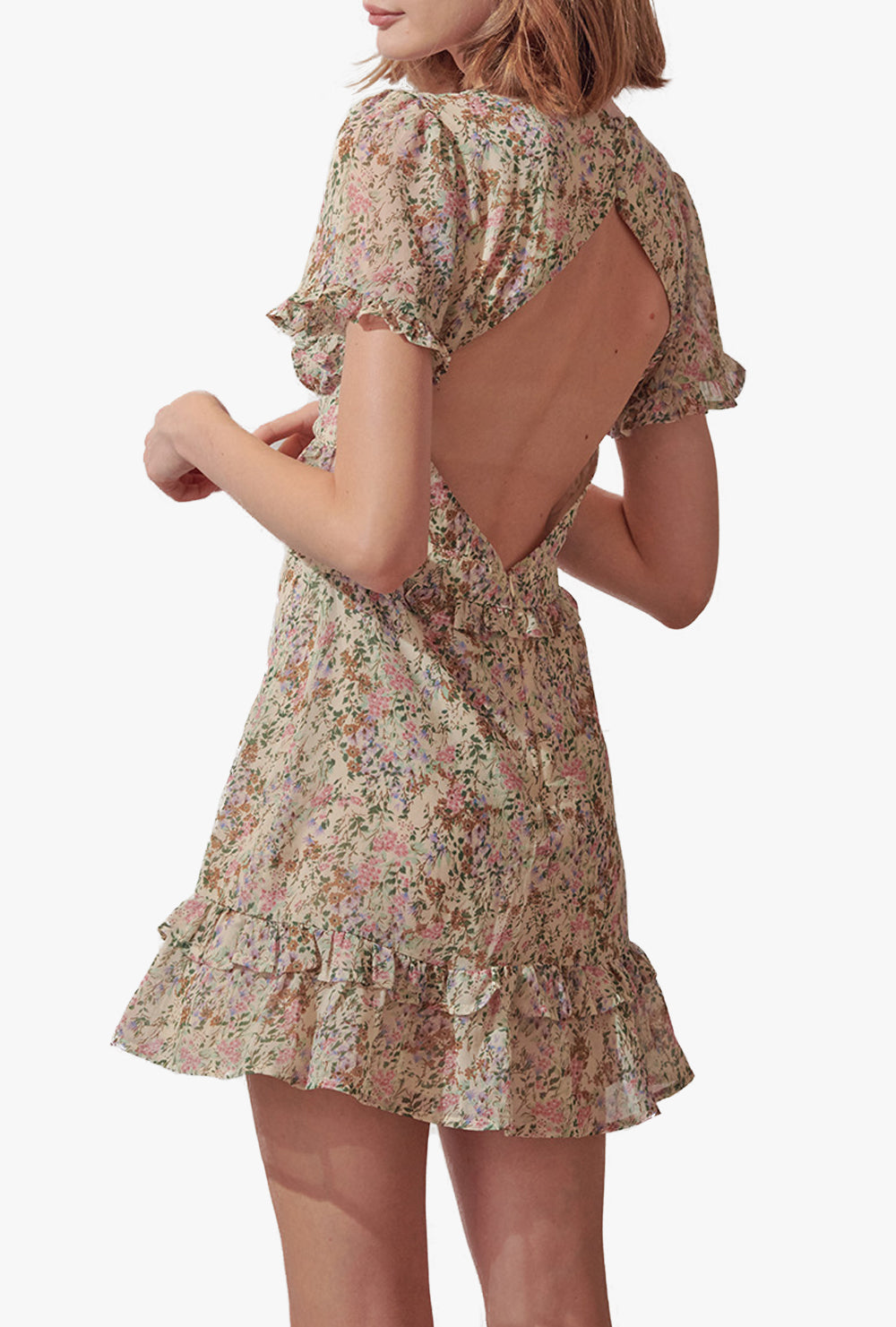 Ruby Floral Short Sleeve Mini Dress