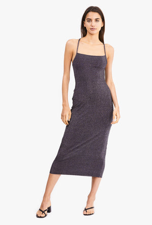 Shimmy Cross Back Slip Dress