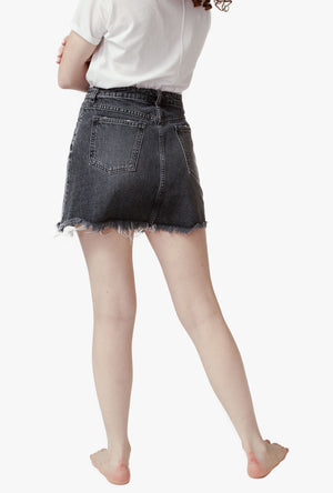 Denim Skirt in Black