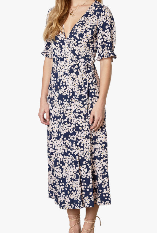 Skye Maxi Floral Wrap Dress