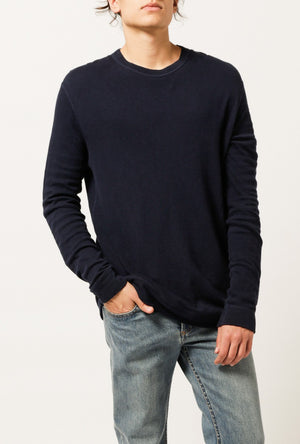 Slim Doubleface Crew Sweater