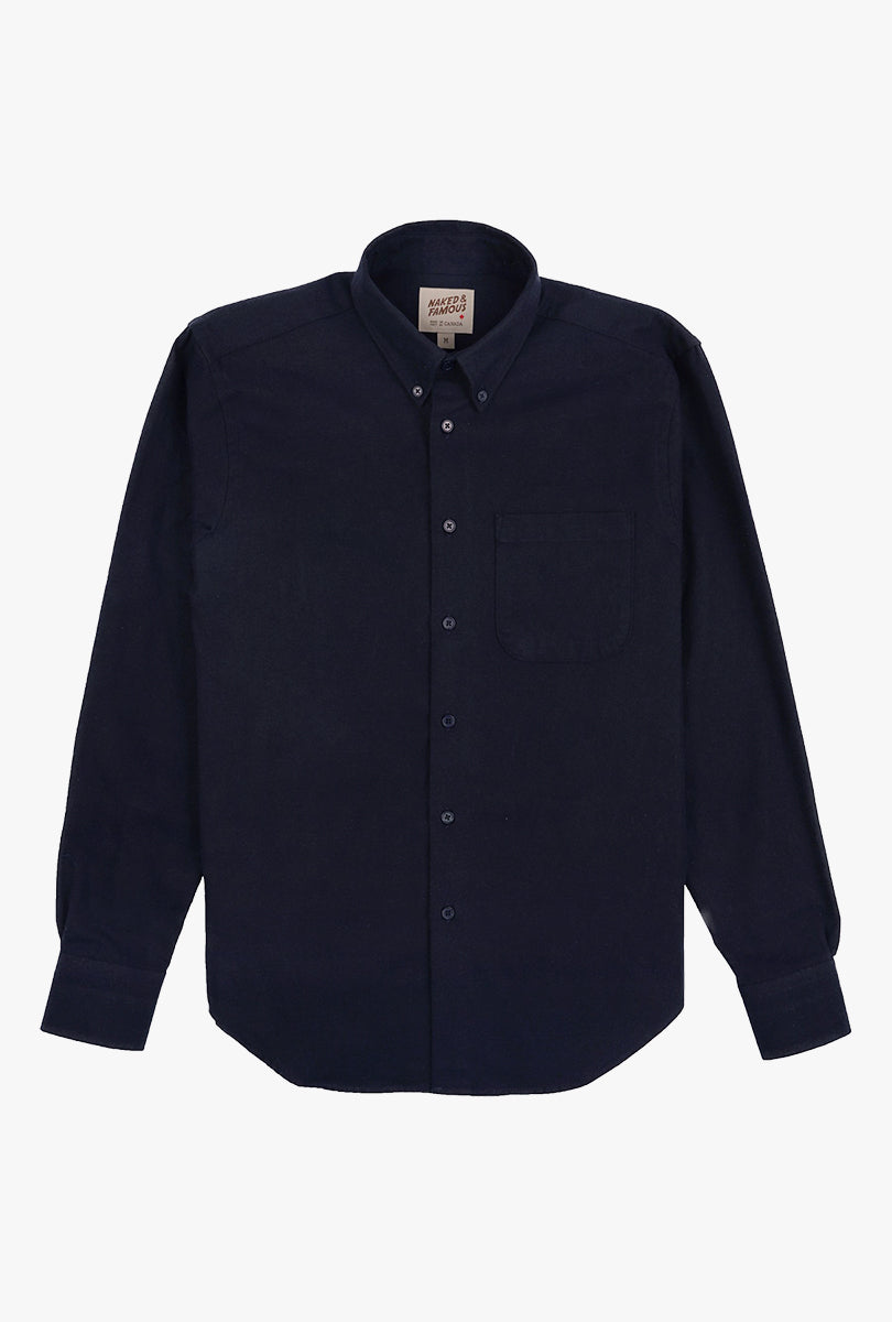 Solid Flannel Easy Shirt